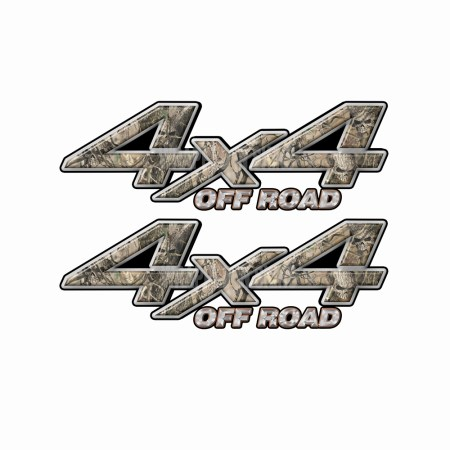 4X4 OFF ROAD Obliteration Skull Camo Bedside Truck Decals 2 pack (ka) 1