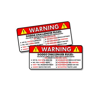Vehicle Rules Decals 8