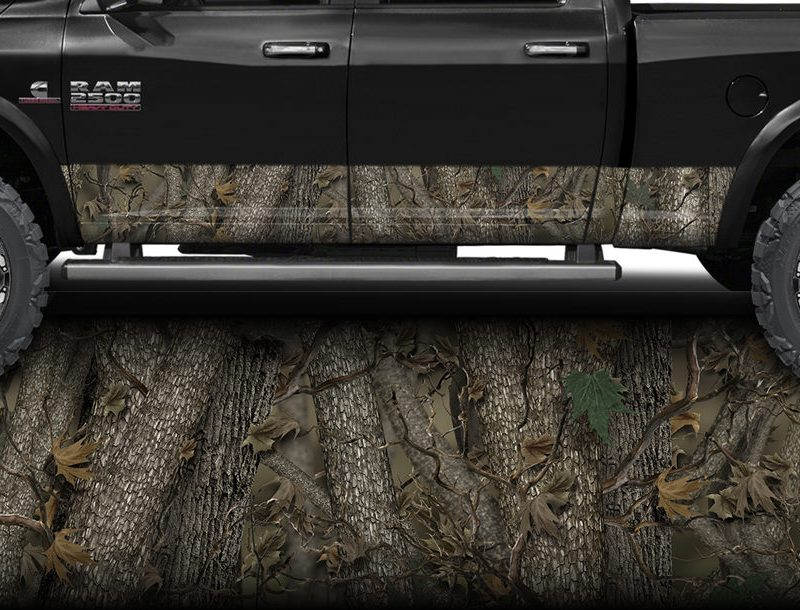 Forest Camo Rocker Panel Wrap