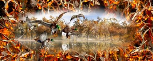 Mallards Obliteration Buck Blaze Camo Full Size Tailgate