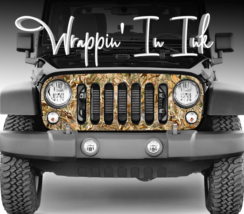 Camo Grill Wrap for the Jeep Wrangler Grill