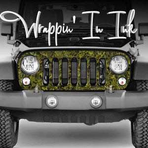 Grill Wrap for Jeep Wrangler Marshland Camo