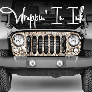 Jeep Wrangler Camo Grill Wrap Obliteration Snow Buck Camouflage