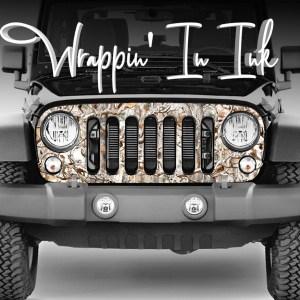 Jeep Wrangler Camo Grill Wrap Obliteration Snow Buck Camouflage