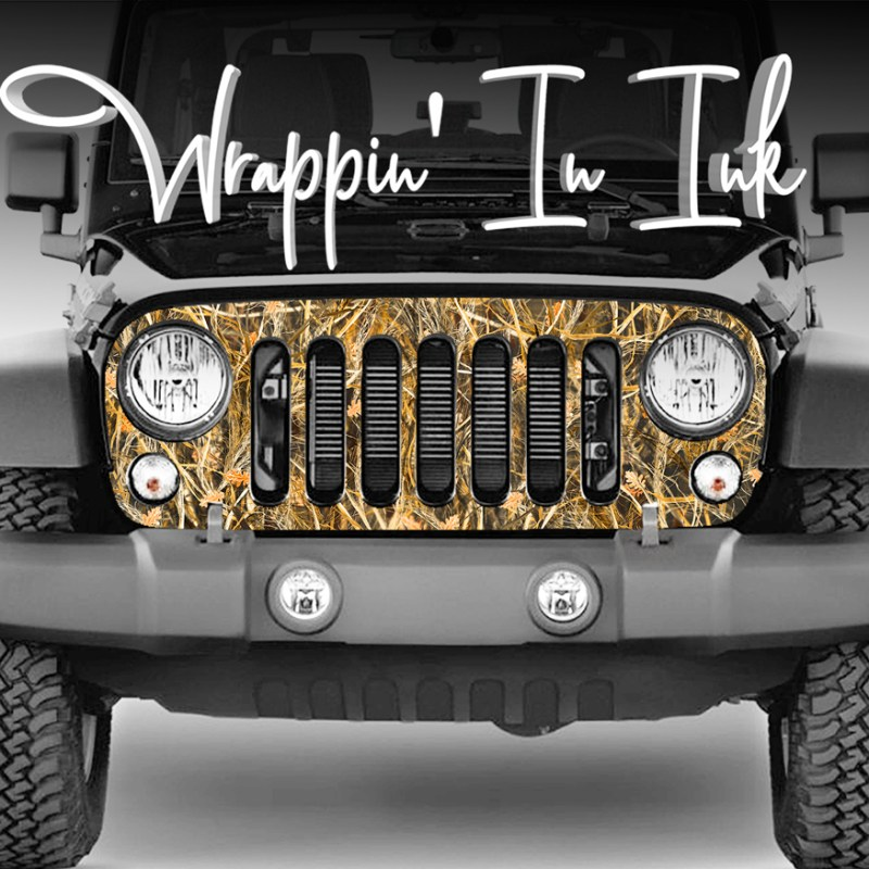 Grill Wrap Camo Tallgrass Wrap for Jeep Wrangler Grill