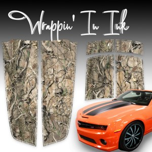 Skull Obliteration Camo Stripes compatible with the 2010-2015 Chevy Camaro