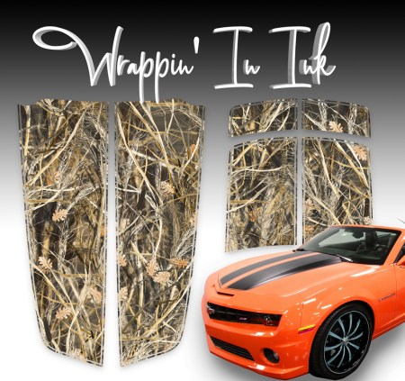 Grass Camo Stripes compatible with the 2010-2015 Camaro