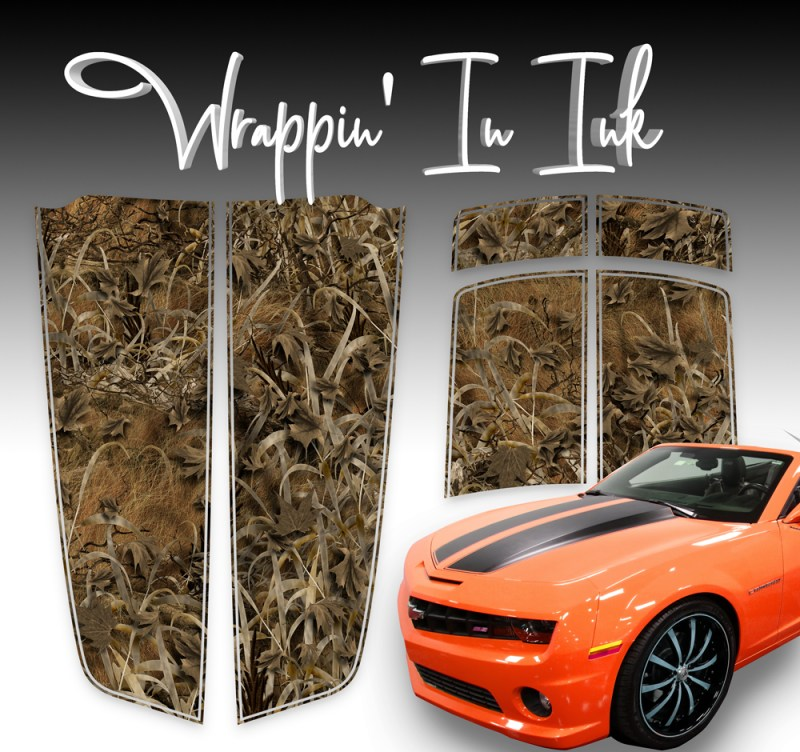 Grassland Camo Camaro Stripes. Racing Stripes for 2010-2015 Camaro