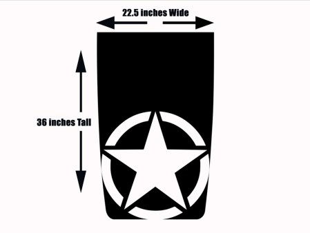 Military Star Jeep Wrangler Hood Decal