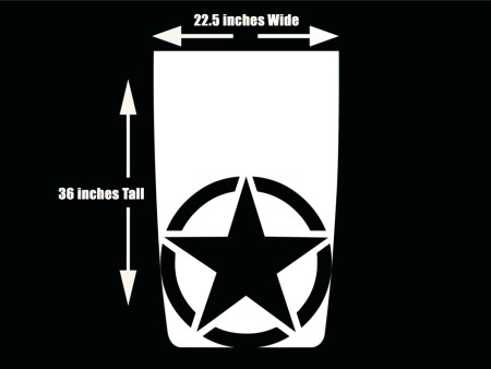 Jeep Wrangler Hood Blackout Decal Die-cut Military Star