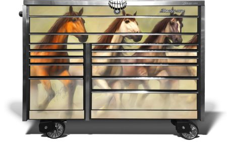Wild Horse Stampede Snap On Tool Box Wrap for hte KRL 1022