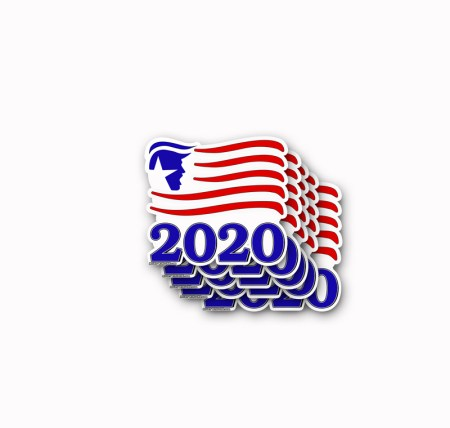 TRUMP 2020 Sticker Flag 5 Pack