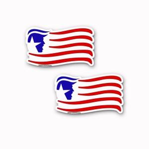 TRUMP Flag Stickers