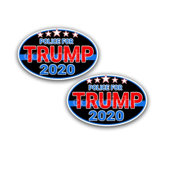 TRUMP 2024 Bumper Stickers Flag 2 Pack 1