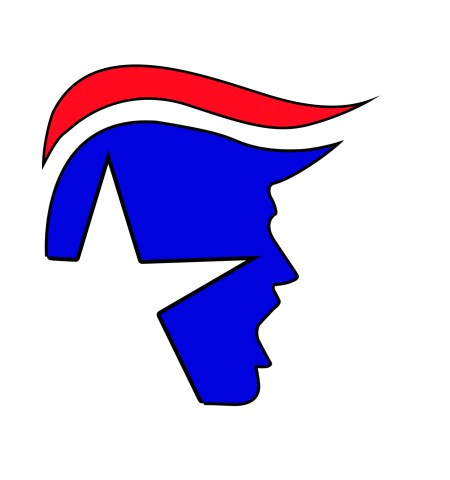 "Yelling Trump Square Bumper Sticker 2 Pack 4"" wide 1"