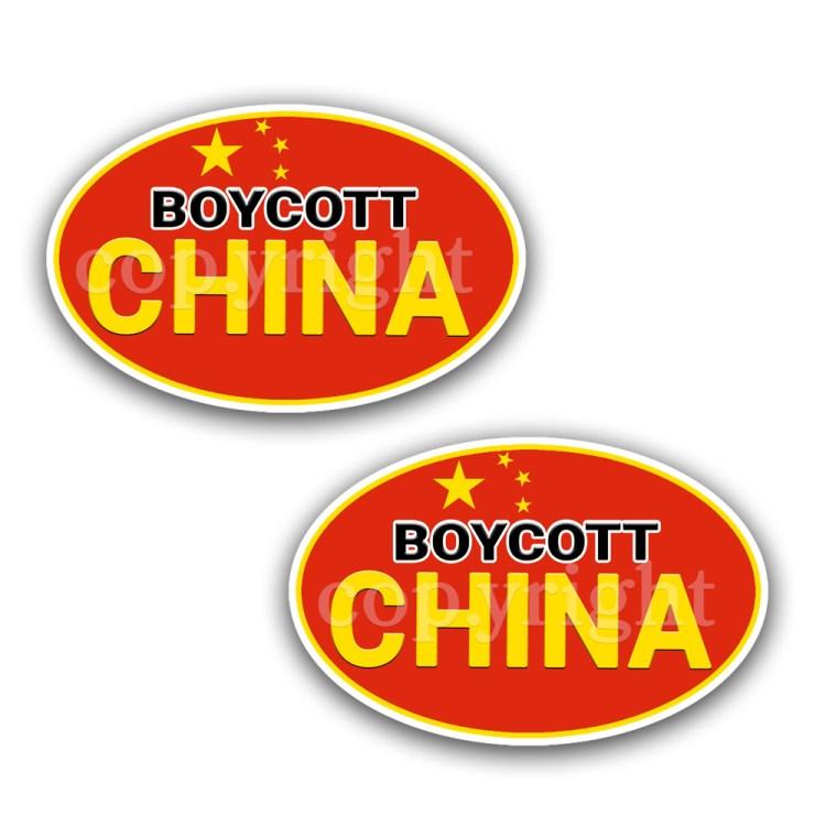 Boycott China Stickers