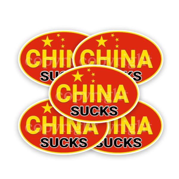 China Suck Stickers 5 Decals