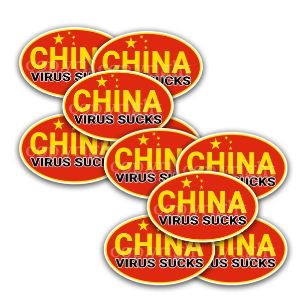 China Virus Sucks Stickers 10 Decals