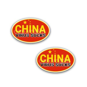 China Virus Sucks Stickers 2 Decals