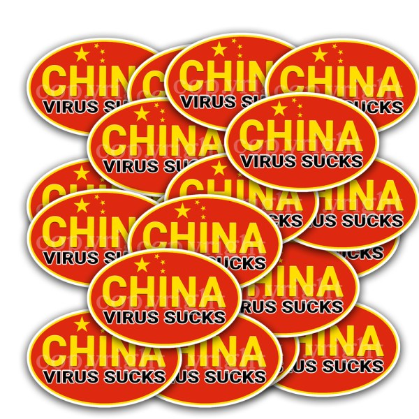 China Virus Sucks Stickers 20 Decals