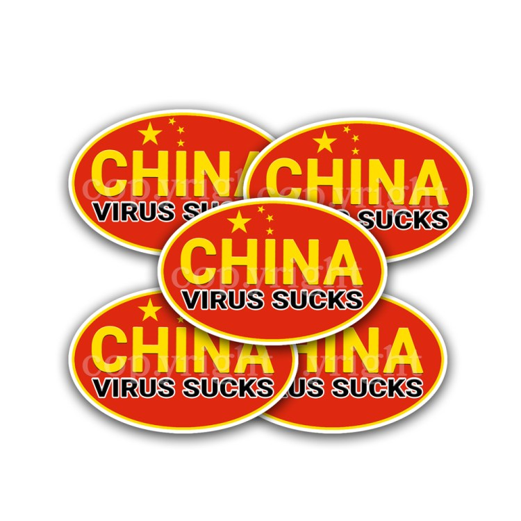 China Virus Sucks Stickers 5 Decals