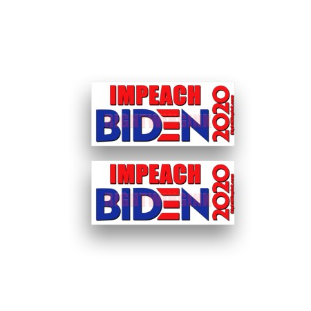 Impeach Biden Stickers 2 Pack 1