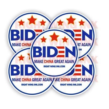 Biden Make China Great Again Stickers 2 Pack Rnd 2
