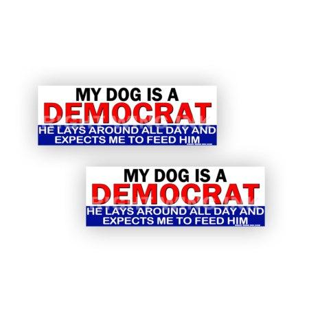 My Dog is a Democrat Stickers