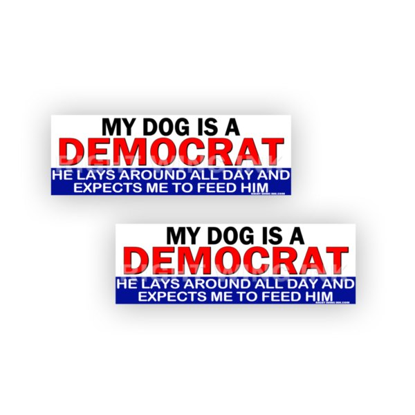 My Dog is a Democrat Stickers