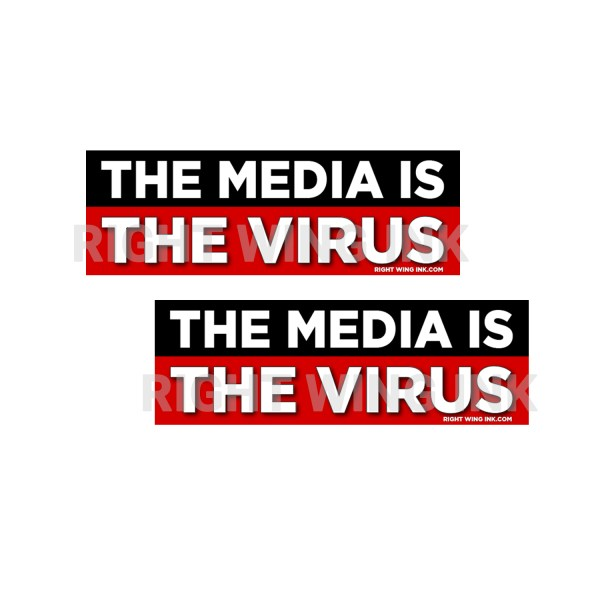The Media Is The Virus Stickers 2 Pack 2