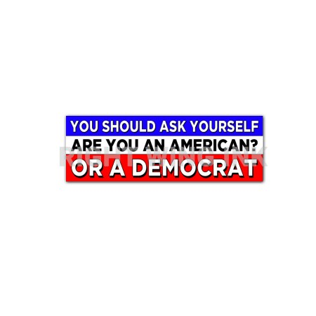 You Should Ask Yourself Are you An American Or Democrat Stickers