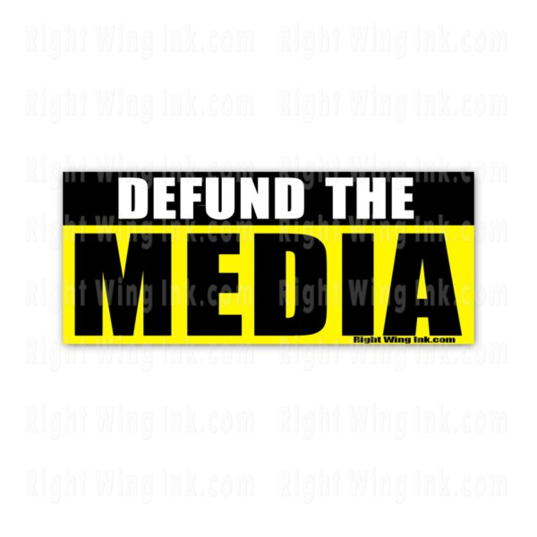 Defund the Media Stickers