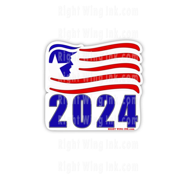 TRUMP 2024 Bumper Stickers Flag