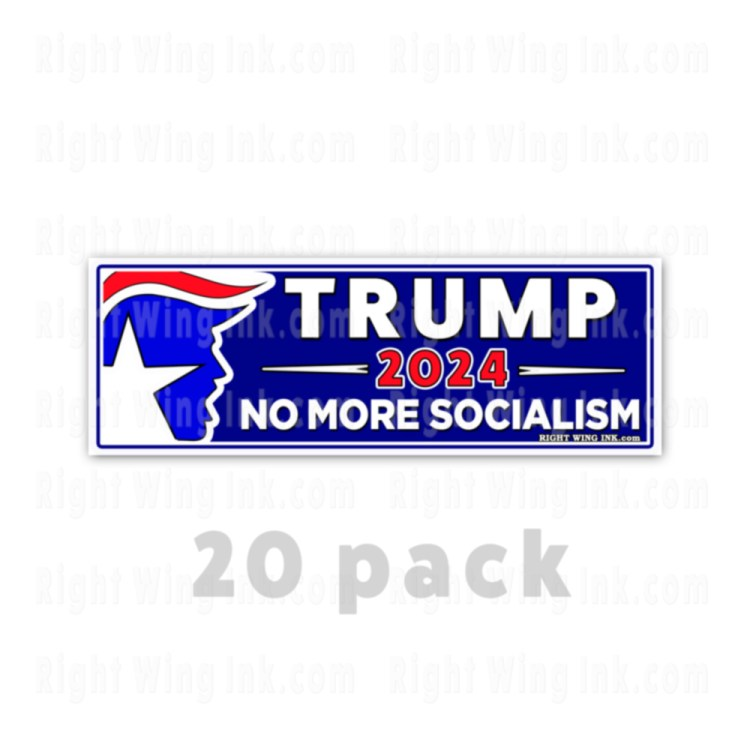 TRUMP 2024 Stickers No More Socialism 20