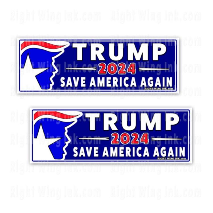 TRUMP 2024 Stickers Save America Again 2