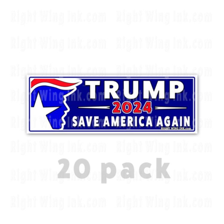 TRUMP 2024 Stickers Save America Again 20