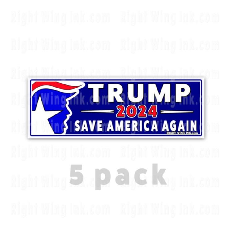 TRUMP 2024 Stickers Save America Again 5