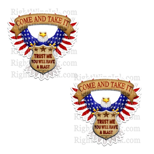 Come And Take It American Flag Eagle Stickers 2