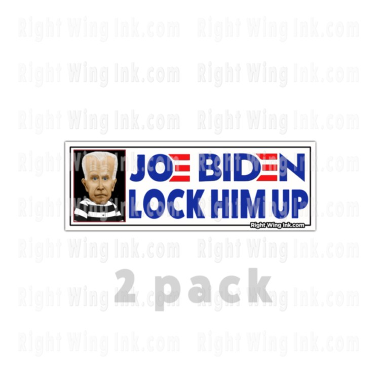 Lock Him Up Stickers Caricature Joe Biden