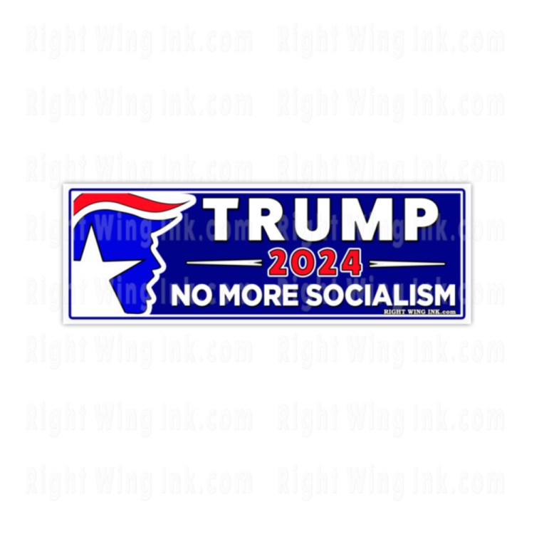 TRUMP 2024 Stickers No More Socialism