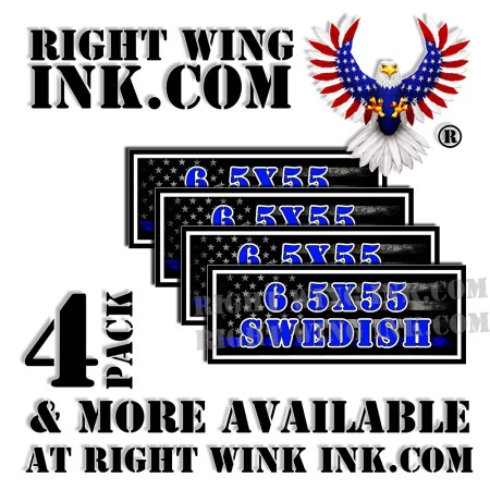 6.5X55 Swedish Ammo Can Decals Stickers