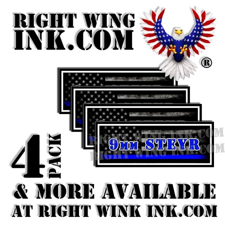 9mm STEYR Ammo Can Decals Stickers
