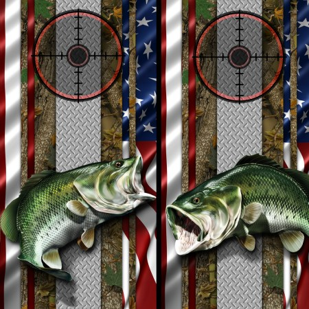American Flag- Forest Bass Cornhole Wraps 02 01