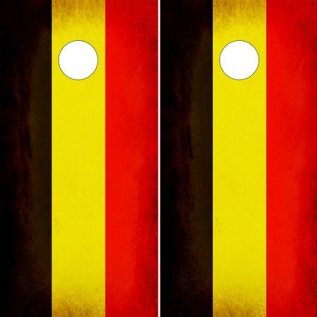 Belgium Flag Rustic Cornhole Wrap Distressed Flag of Belgium