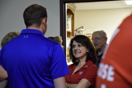 Vukmir speaks to supporters in Waukesha