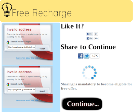 Dont Click on Free Recharge links in Facebook  Its a Scam  - RIGHT