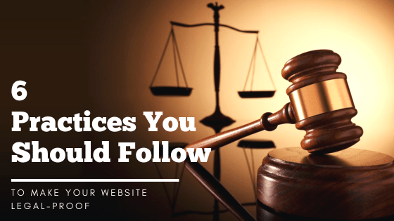Make Your Website Legal-proof