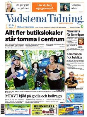 Motala Tidning den 11 juli 2008.
