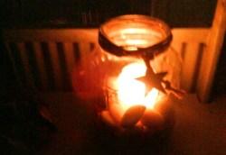 Gurkburk blev ljuslykta.