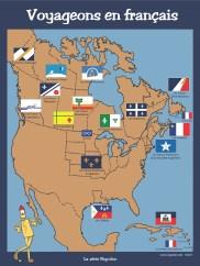Poster: drapeaux francophones